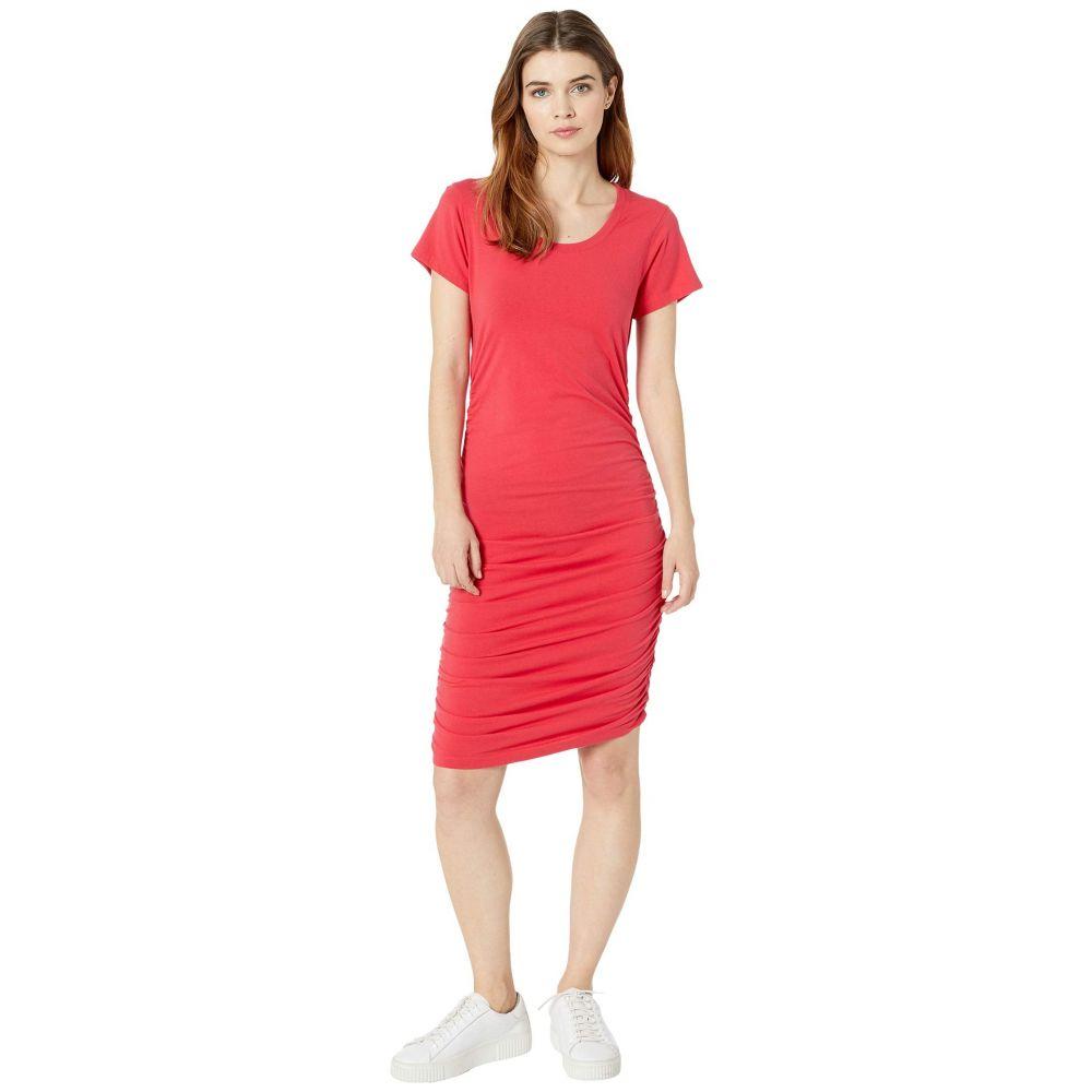 ボビ ロサンゼルス bobi Los Angeles レディース ワンピース ワンピース・ドレス【Short Sleeve Shirred Dress in Modal Jersey】Chili