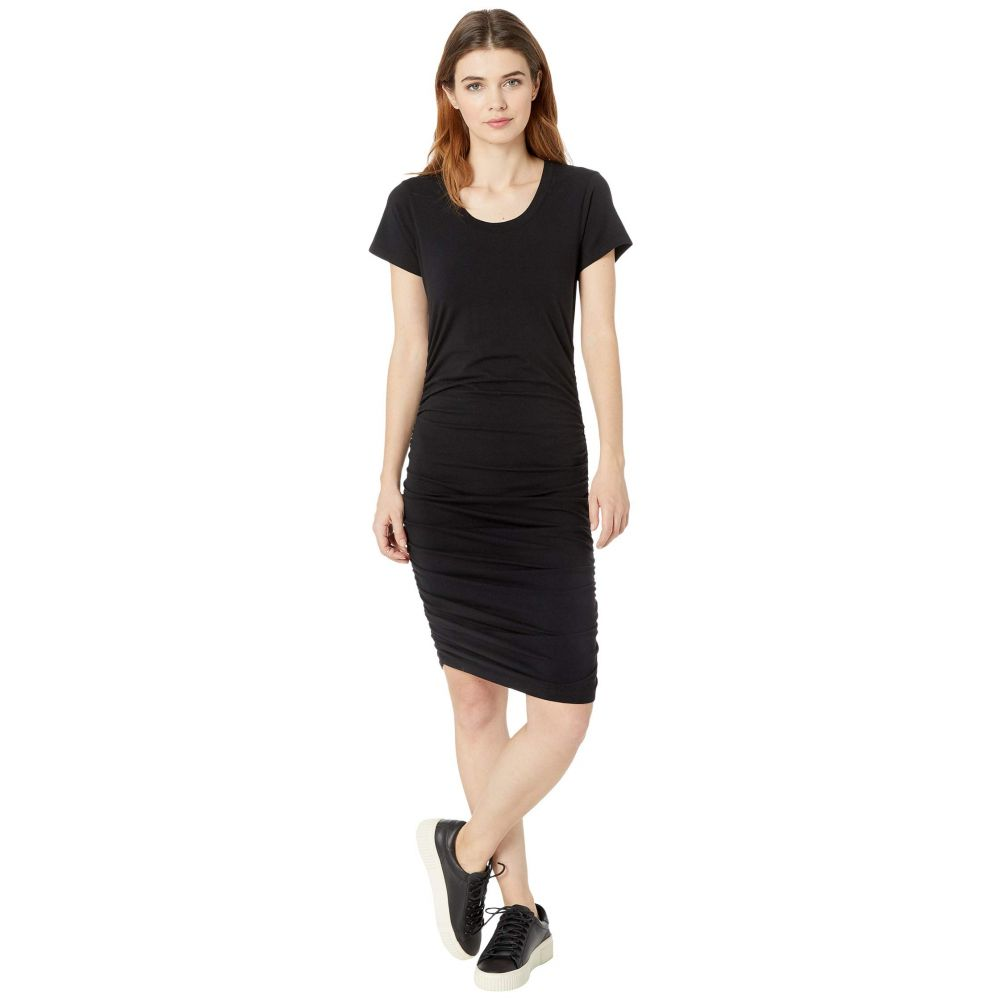 ボビ ロサンゼルス bobi Los Angeles レディース ワンピース ワンピース・ドレス【Short Sleeve Shirred Dress in Modal Jersey】Black