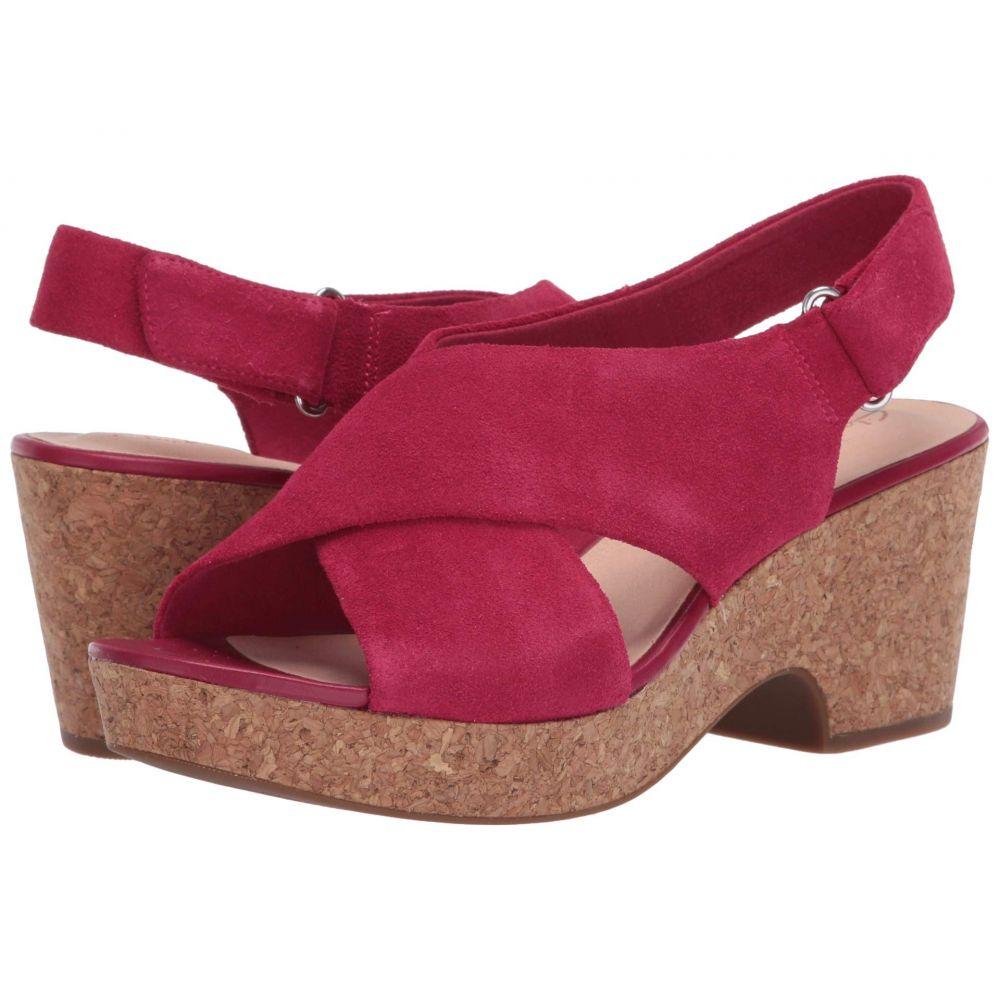 クラークス Clarks レディース サンダル・ミュール シューズ・靴【Maritsa Lara】Fuchsia Suede