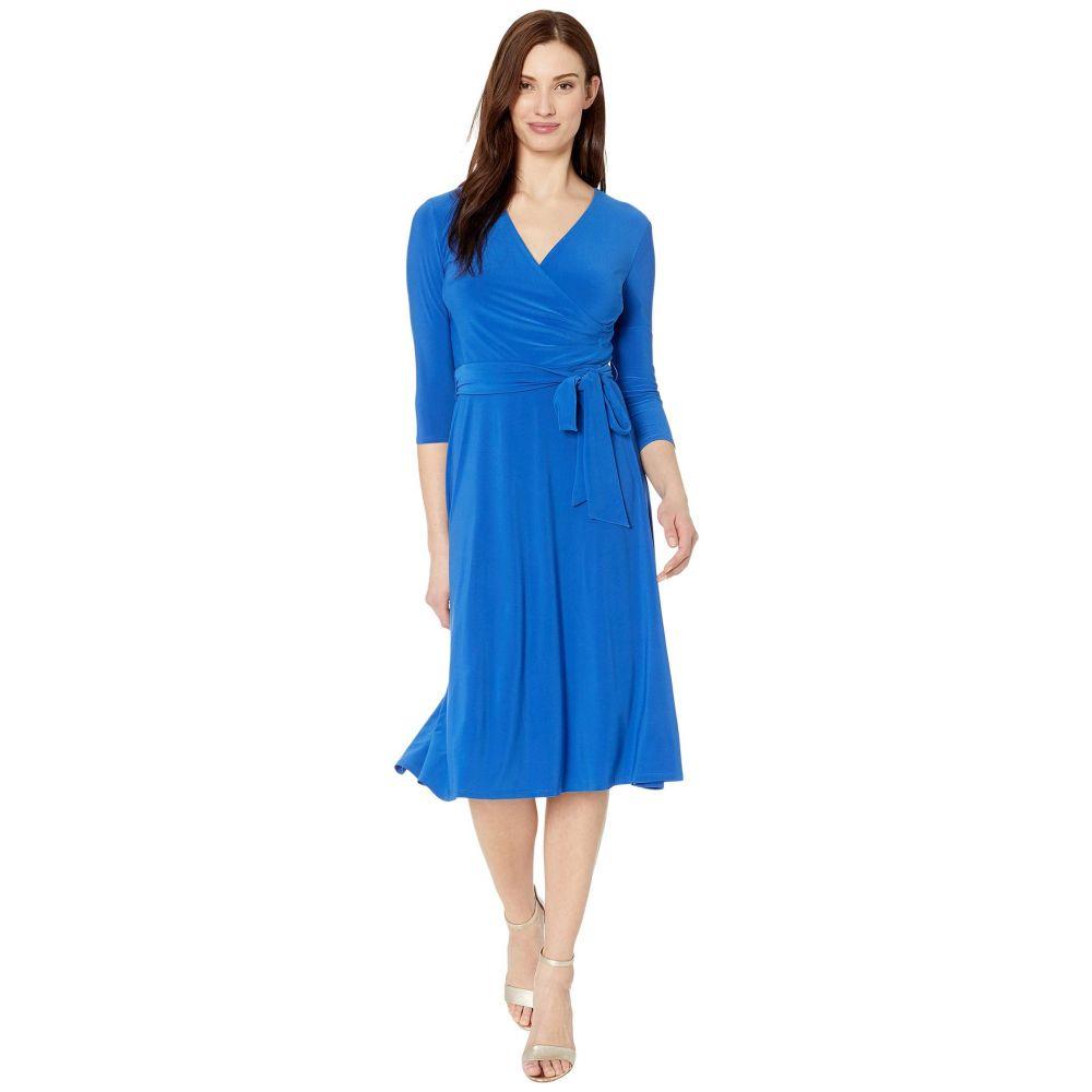 ラルフ ローレン LAUREN Ralph Lauren レディース ワンピース 七分袖 ワンピース・ドレス【Carlyna 3/4 Sleeve Day Dress】Regal Sapphire
