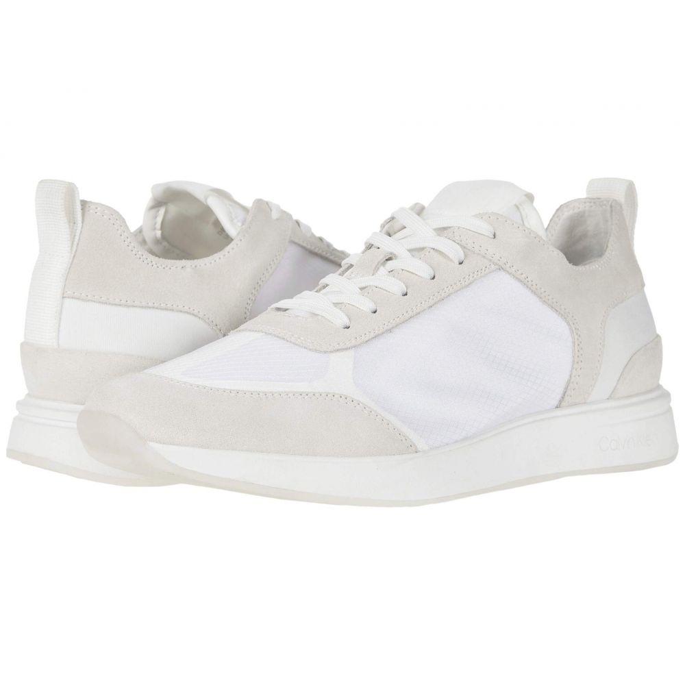 カルバンクライン Calvin Klein メンズ スニーカー シューズ・靴【Delbert】White/Translucent Mesh/Silky Suede/Lycra