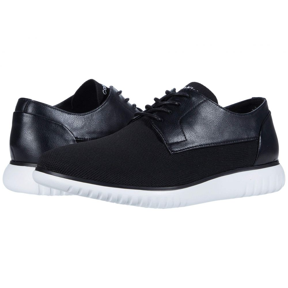 カルバンクライン Calvin Klein メンズ 革靴・ビジネスシューズ シューズ・靴【Teodor】Black Knit/Small Grain Leather