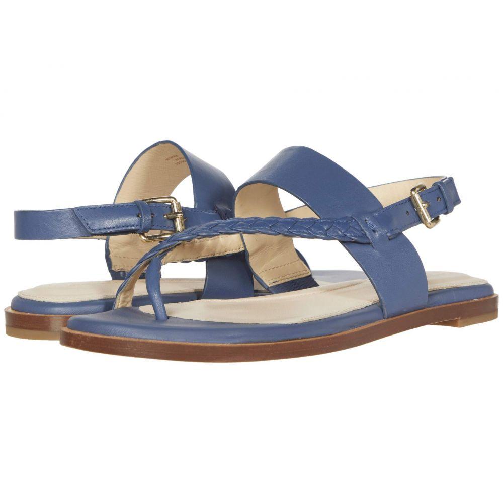 コールハーン Cole Haan レディース サンダル・ミュール トングサンダル シューズ・靴【G.OS Anica Thong Sandal】Vintage Indigo Leather Gold