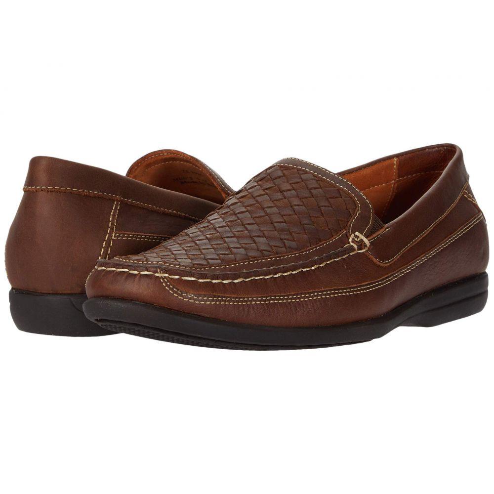ジョンストン&マーフィー Johnston & Murphy メンズ ローファー シューズ・靴【Locklin Woven Venetian】Tan Oiled Full Grain