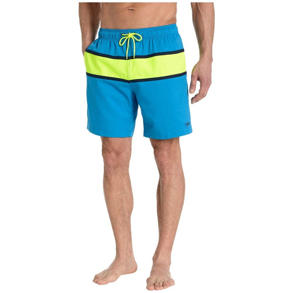 スピード Speedo メンズ 海パン 水着・ビーチウェア【Color-Block Redondo Volley 18'】Blue Lemonade