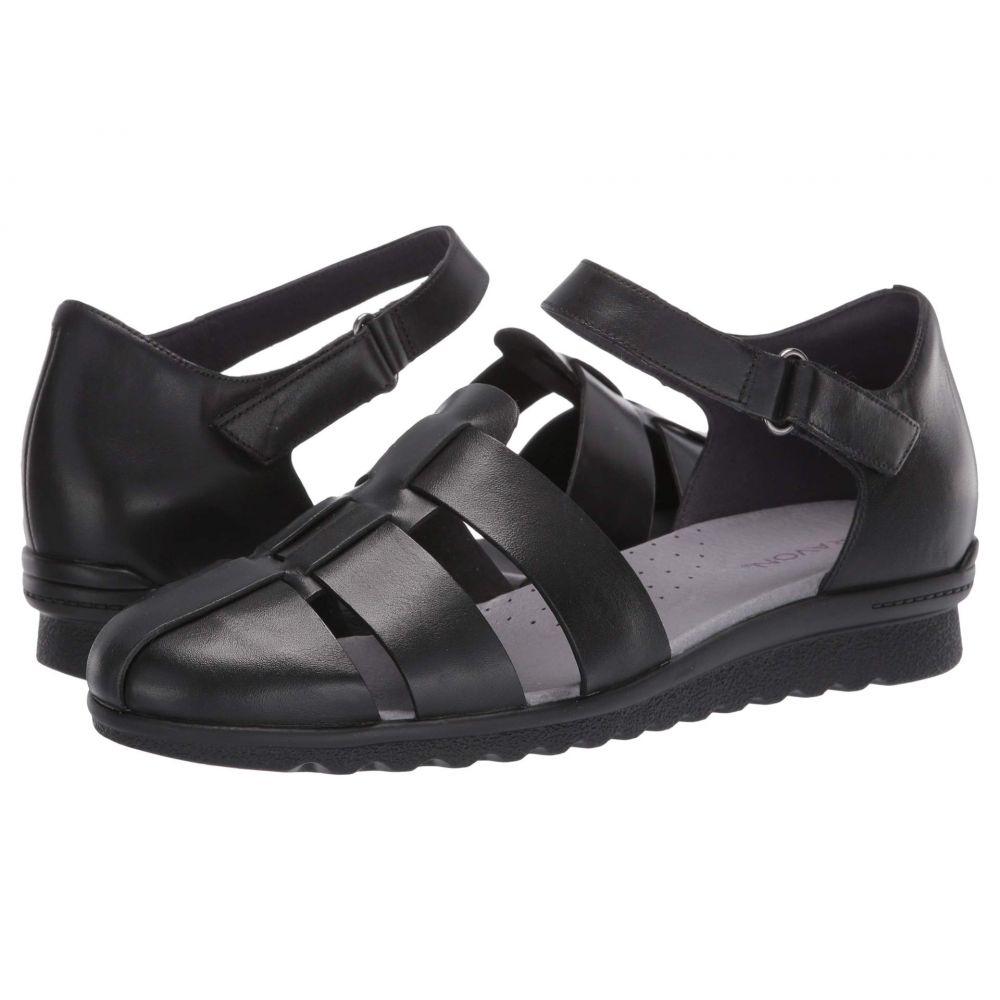 アラヴォン Aravon レディース サンダル・ミュール シューズ・靴【Josie Two-Piece】Black Smooth