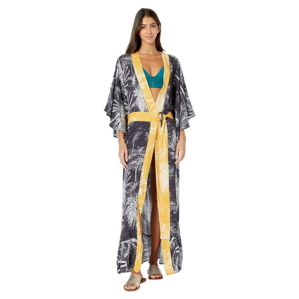 マージ Maaji レディース ビーチウェア 水着・ビーチウェア【Eclipse Kimono Cover-Up】Washed Black Palm