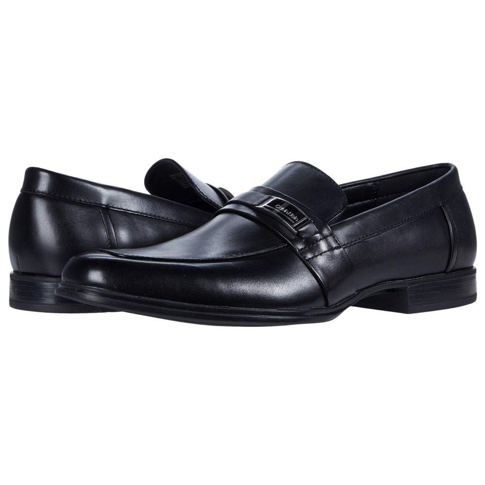 カルバンクライン Calvin Klein メンズ ローファー シューズ・靴【Drystan】Black Crust Leather
