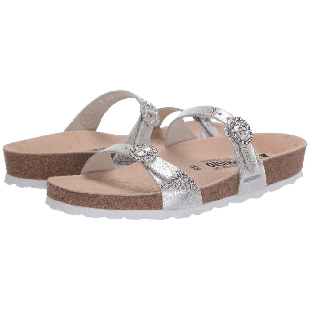 メフィスト Mephisto レディース サンダル・ミュール シューズ・靴【Norie】Silver Edison