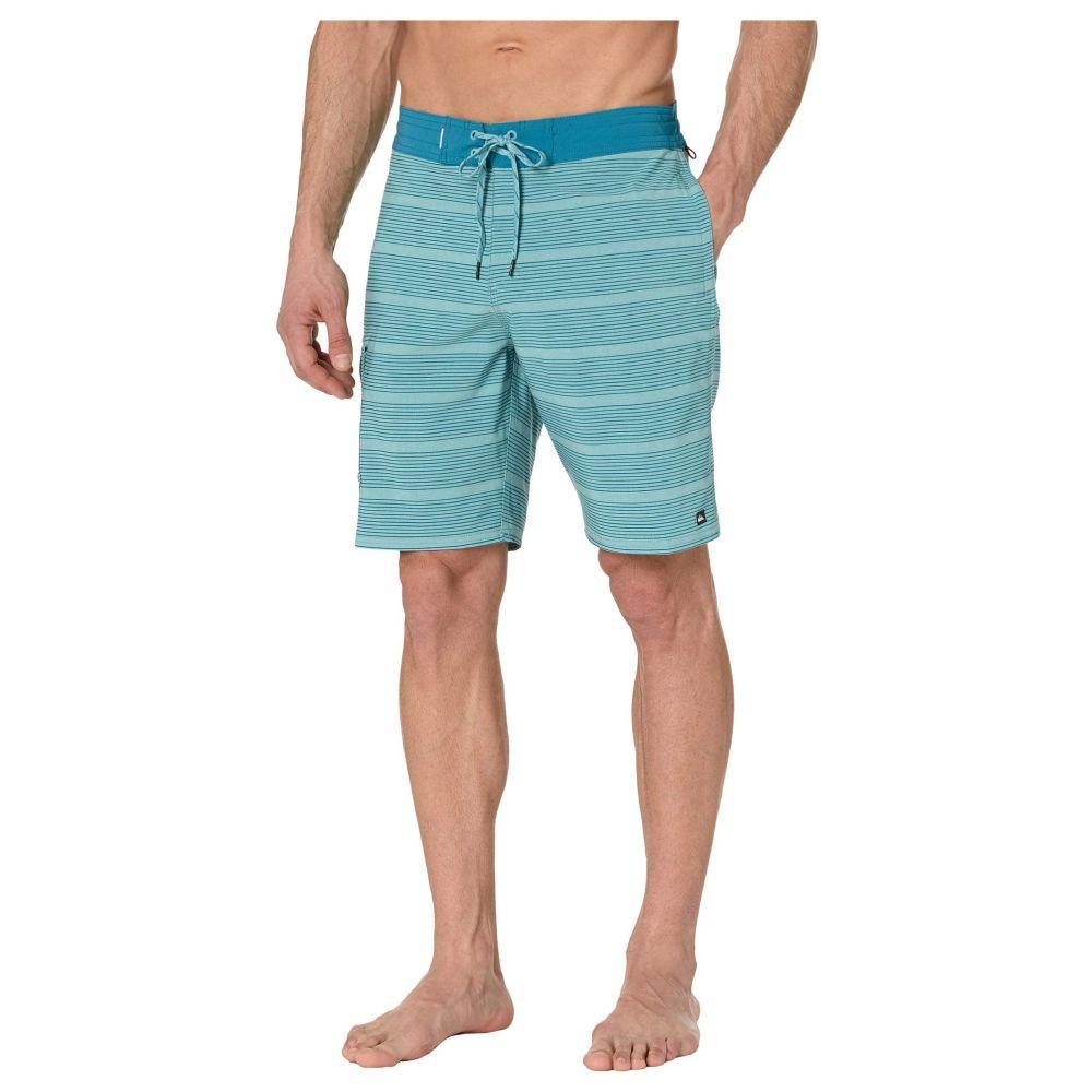 クイックシルバー Quiksilver Waterman メンズ 海パン 水着・ビーチウェア【Angler Stripe 20' Beachshorts】Still Water
