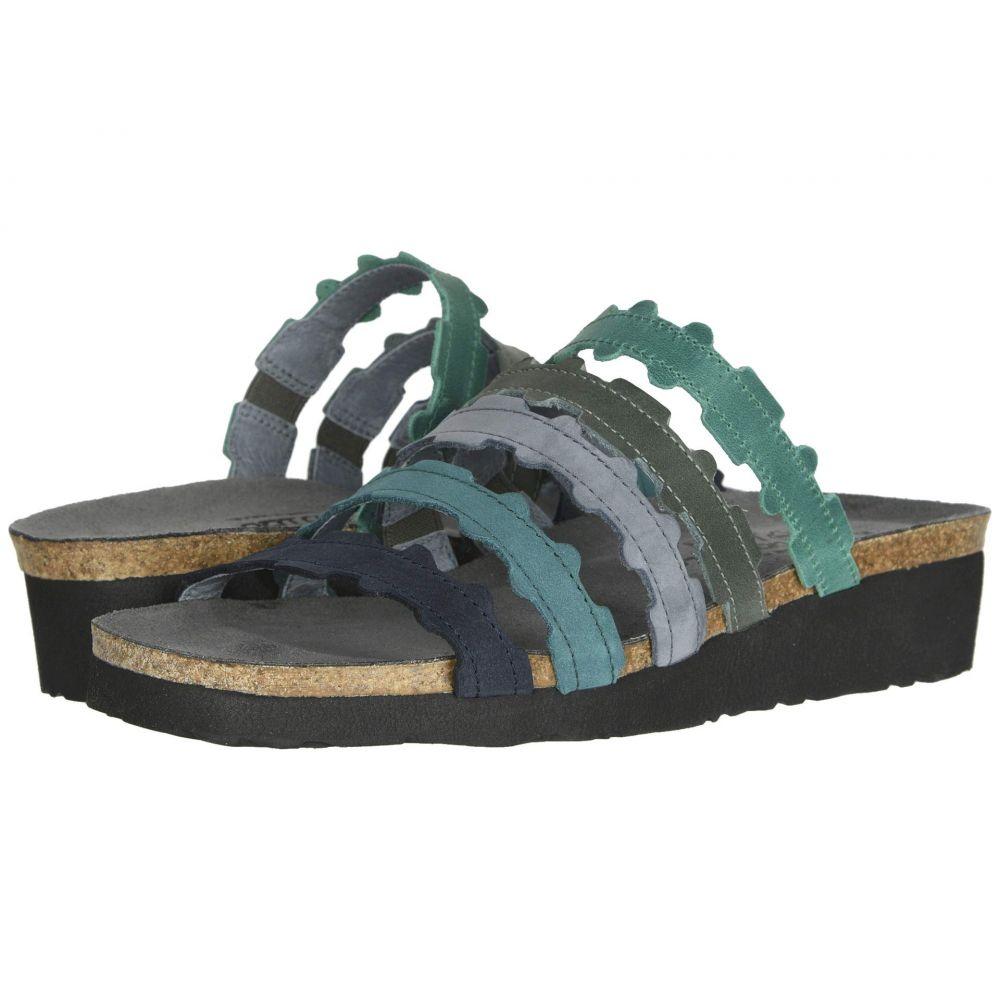 ナオト Naot レディース サンダル・ミュール シューズ・靴【Adina】Oily Emerald Nubuck/Blue Nubuck Combination