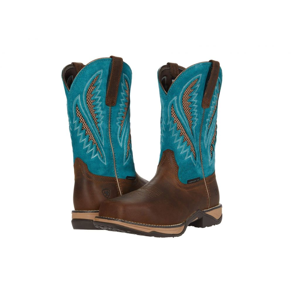 アリアト Ariat レディース ブーツ シューズ・靴【Anthem VentTEK Composite Toe】Royal Chocolate/Turquoise