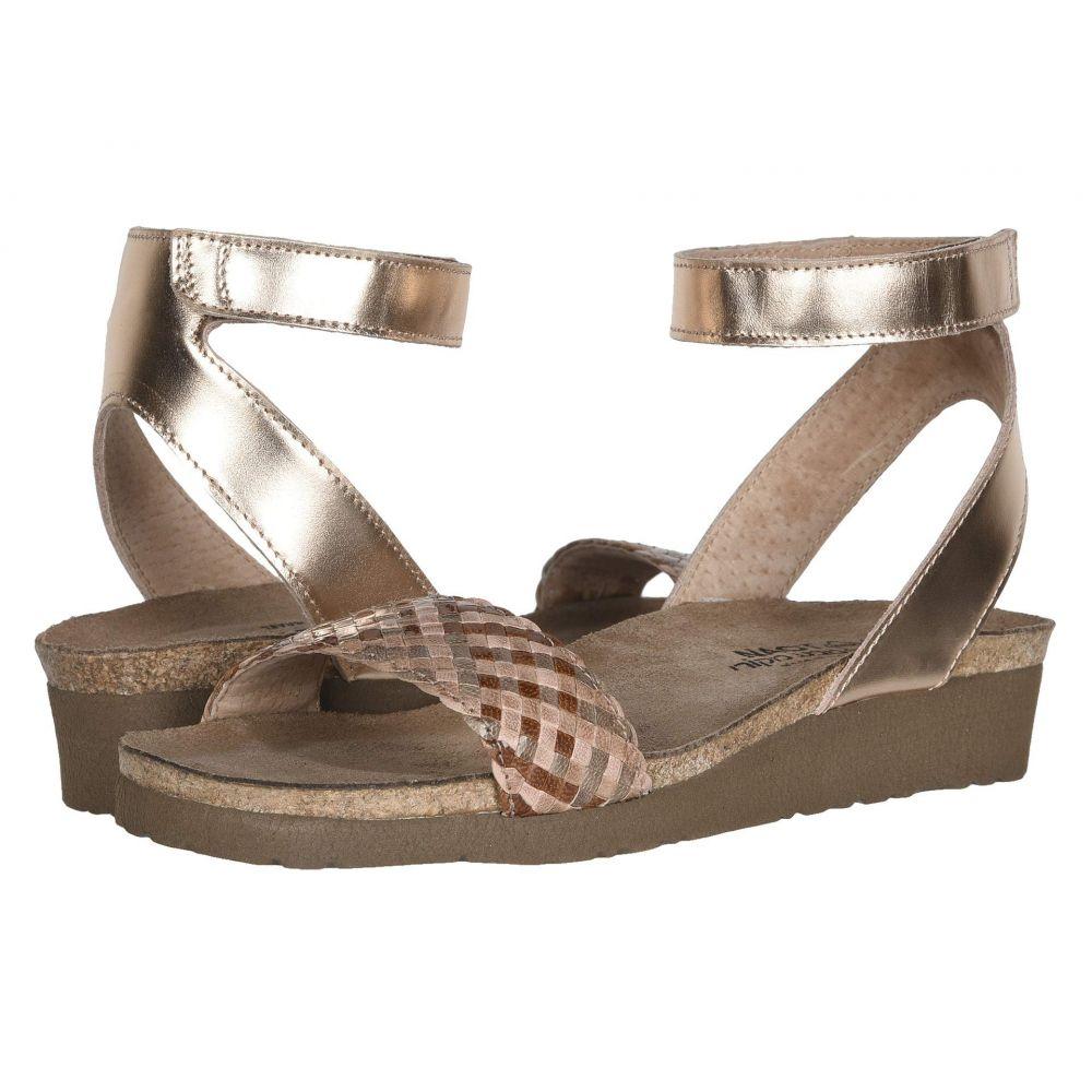 ナオト Naot レディース サンダル・ミュール シューズ・靴【Abbie】Rose Gold Leather/Natural Brown Braid