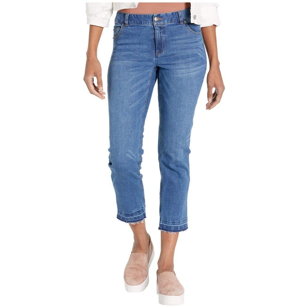 エリオットローレン Elliott Lauren レディース ジーンズ・デニム ウォッシュ加工 ボトムス・パンツ【Washed Stretch Denim Five-Pocket Jeans with Frayed Hem in Denim】Denim