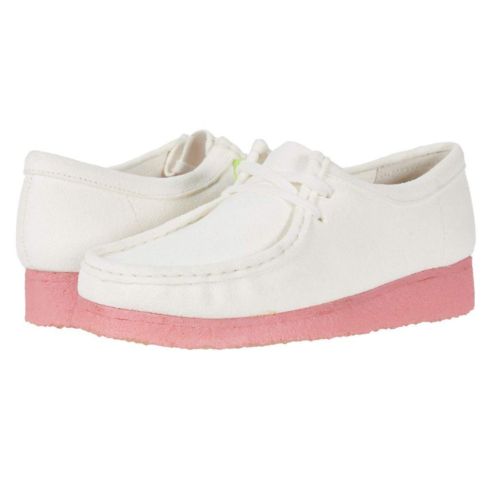 クラークス Clarks レディース ブーツ シューズ・靴【Wallabee】Bright White Combi