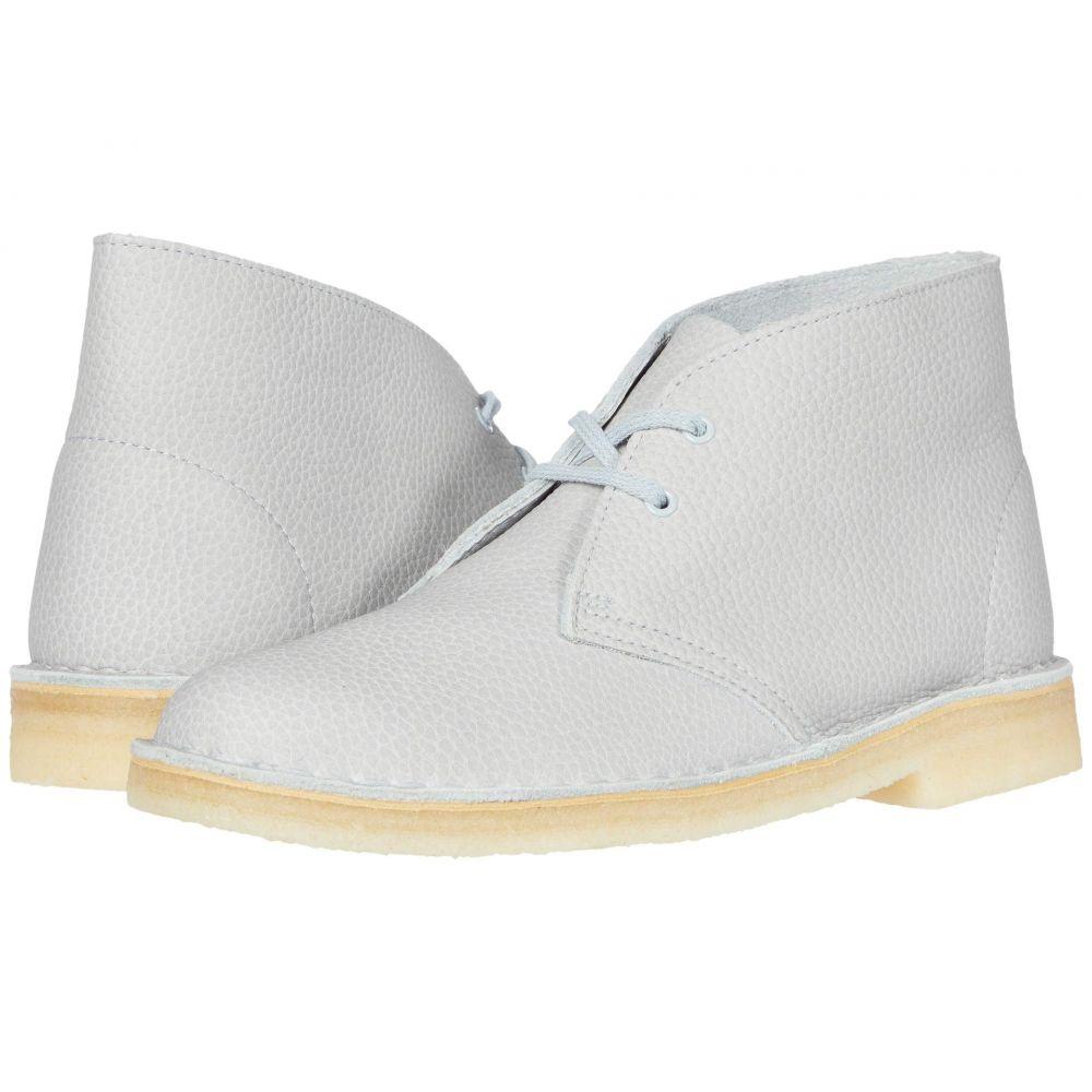 クラークス Clarks レディース ブーツ シューズ・靴【Desert Boot】Light Blue Leather