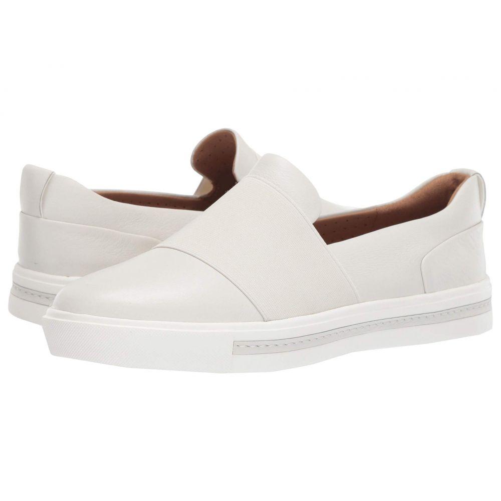 クラークス Clarks レディース スニーカー シューズ・靴【Un Maui Step】White Leather