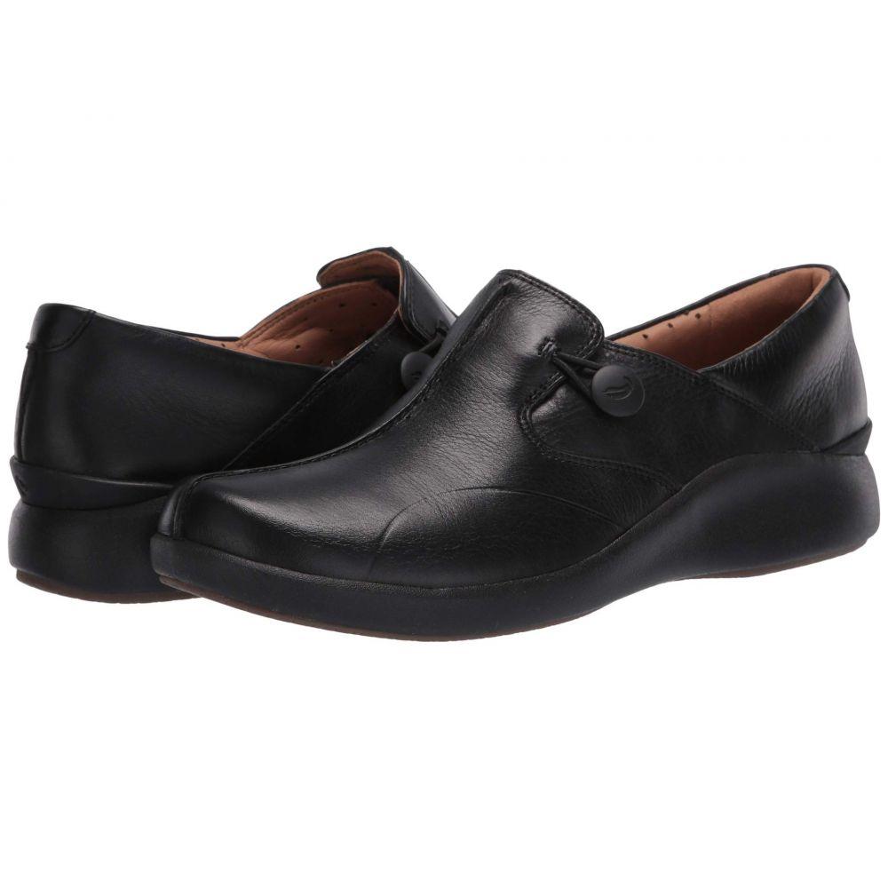 クラークス Clarks レディース スニーカー シューズ・靴【Un Loop 2 Walk】Black Tumbled Leather