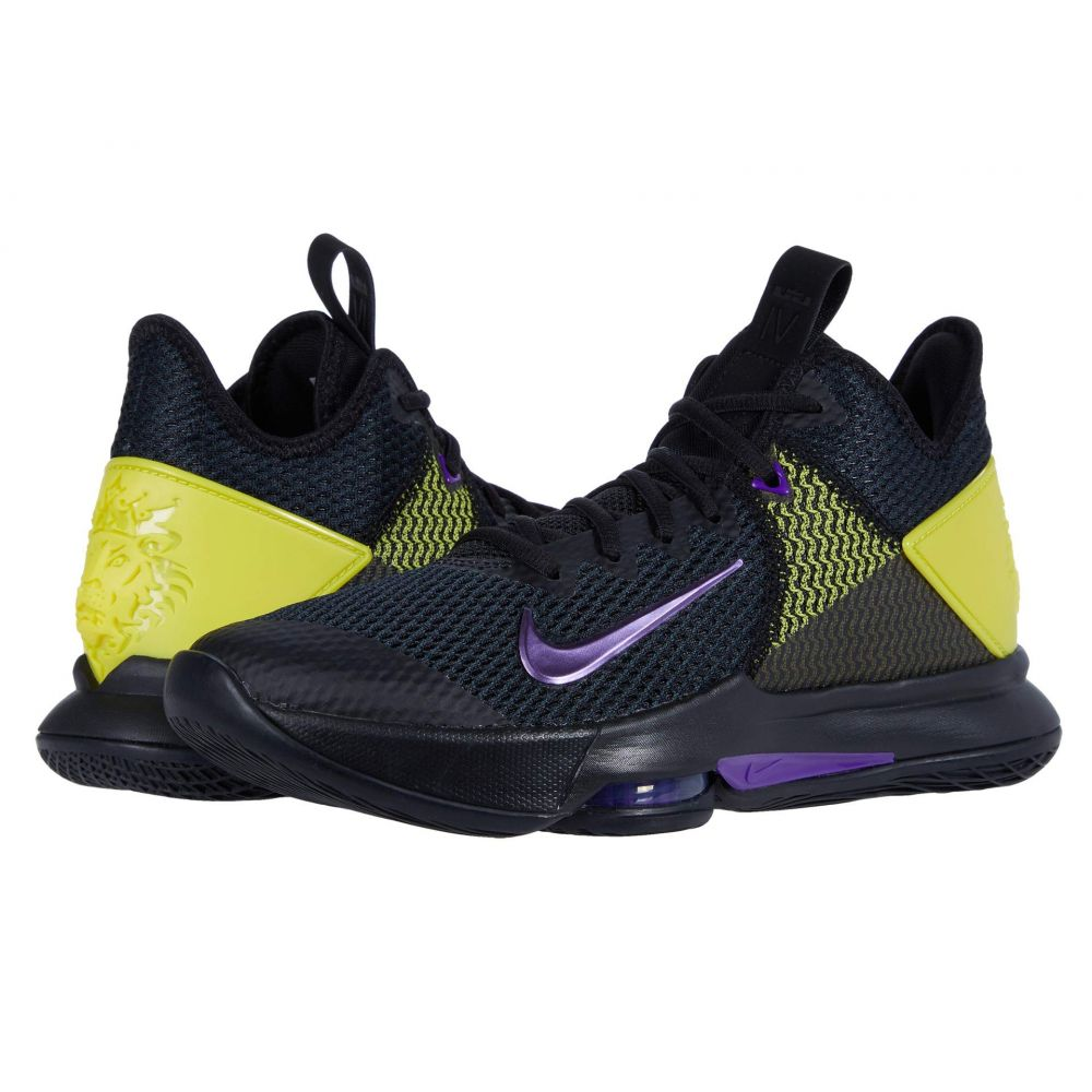 ナイキ Nike メンズ バスケットボール シューズ・靴【Lebron Witness IV】Black/Voltage Purple/Opti Yellow/White