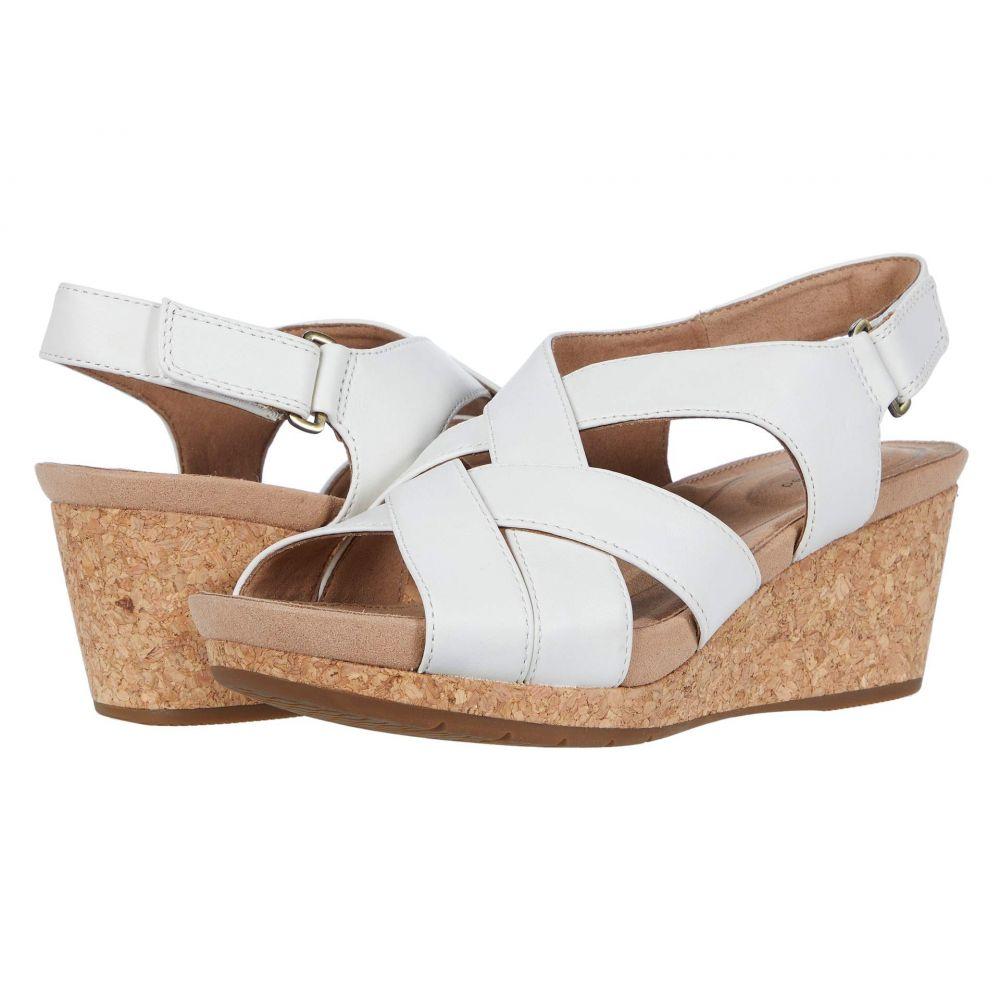 クラークス Clarks レディース サンダル・ミュール シューズ・靴【Un Capri Step】White Leather