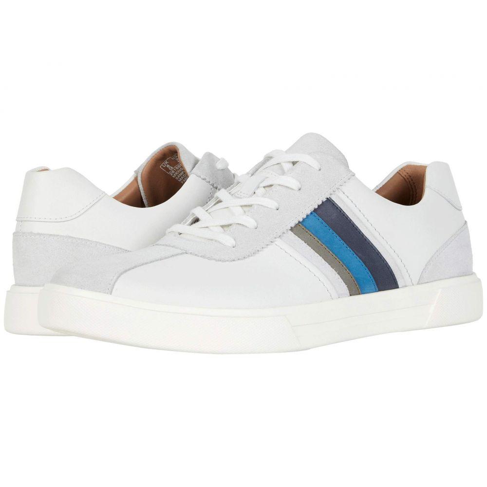 クラークス Clarks メンズ スニーカー シューズ・靴【Un Costa Band】White/Blue Leather/Suede Combi