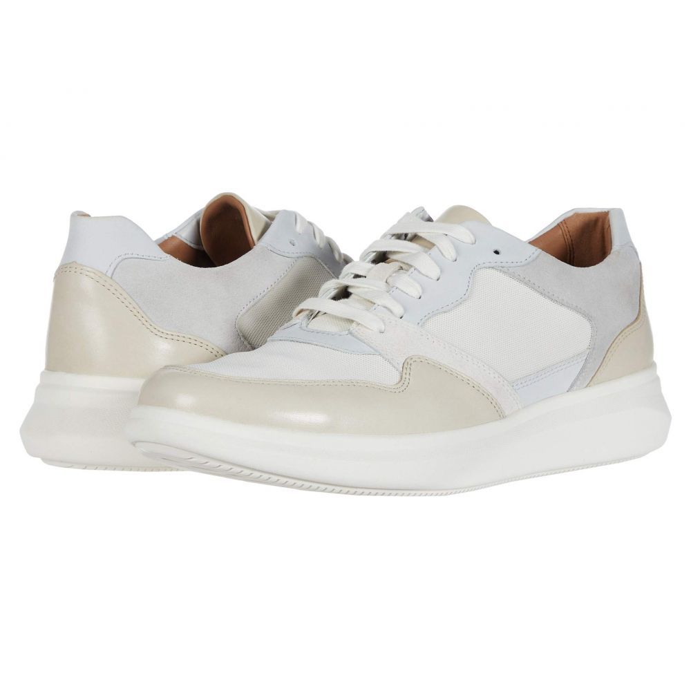 クラークス Clarks メンズ スニーカー シューズ・靴【Un Globe Run】White/Stone Leather/Text Combi