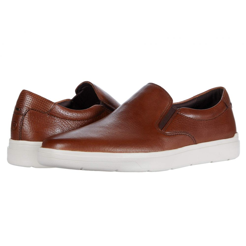 ロックポート Rockport メンズ スリッポン・フラット シューズ・靴【Total Motion Lite Slip-On】Cognac Toledo