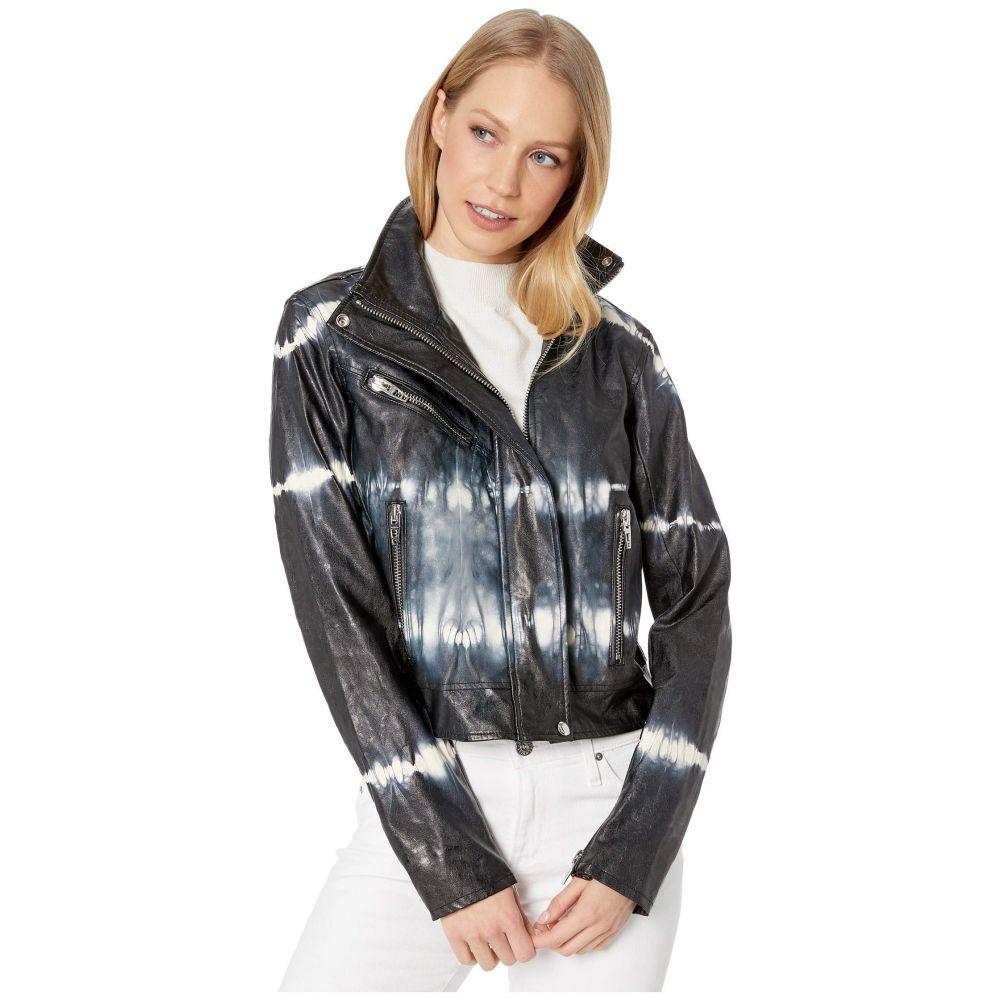 ブランクニューヨーク Blank NYC レディース ジャケット アウター【Faux Leather Tie-Dye Jacket in Bliss Field】Bliss Field