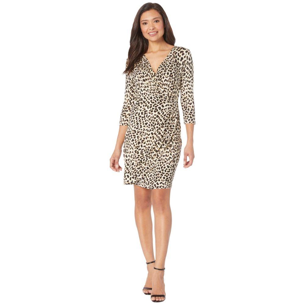 カレンケーン Karen Kane レディース ワンピース ラップドレス ワンピース・ドレス【Cascade Wrap Dress】Cheetah