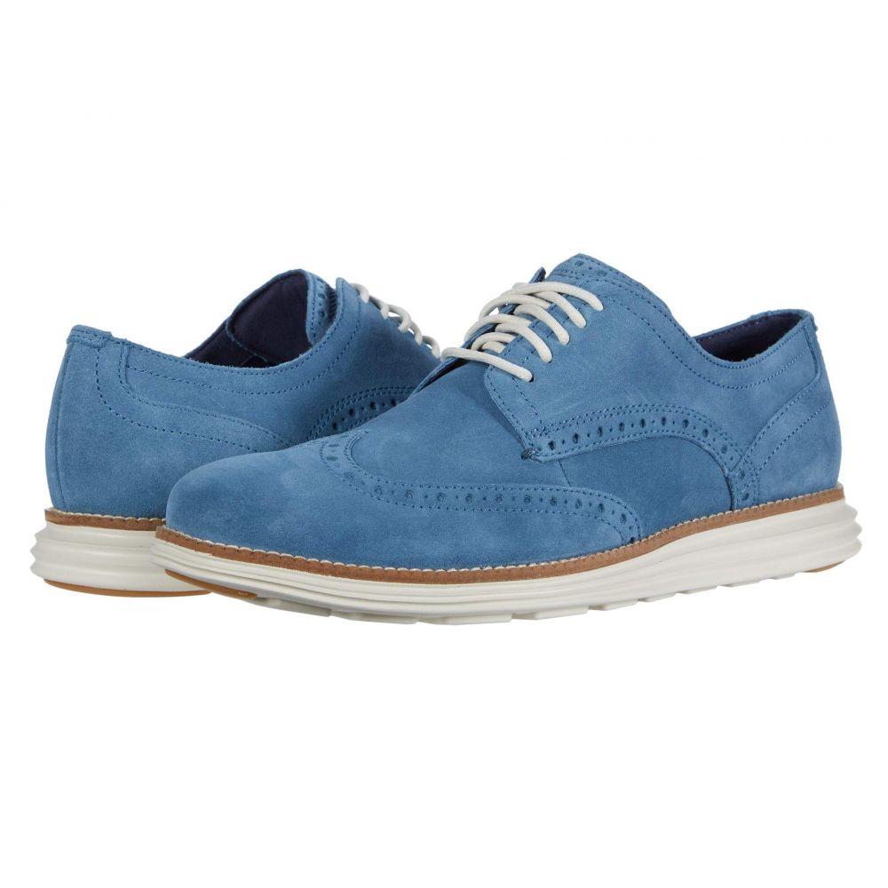 コールハーン Cole Haan メンズ 革靴・ビジネスシューズ ウイングチップ シューズ・靴【Original Grand Wingtip Oxford】Vintage Indigo Suede/Ivory