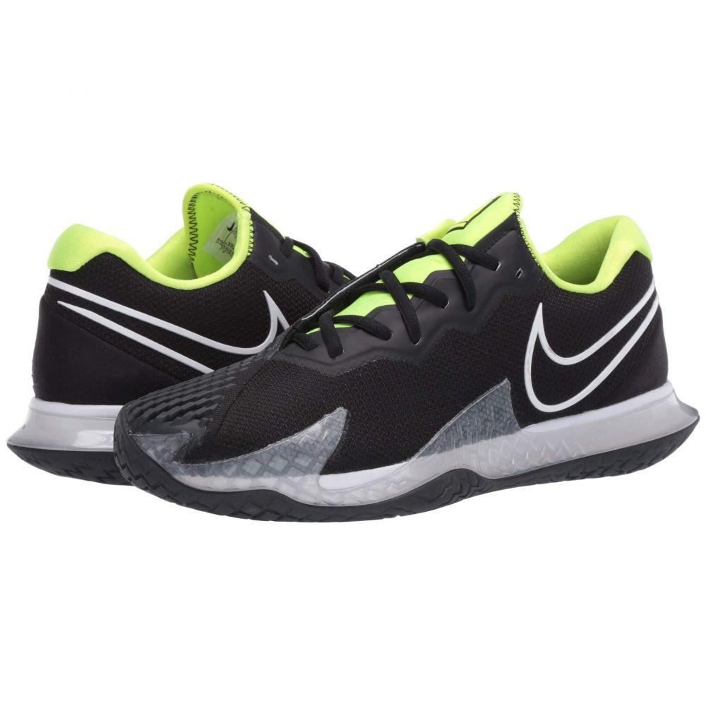 ナイキ Nike メンズ テニス エアズーム シューズ・靴【Court Air Zoom Vapor Cage 4】Black/White/Volt/Dark Smoke Grey