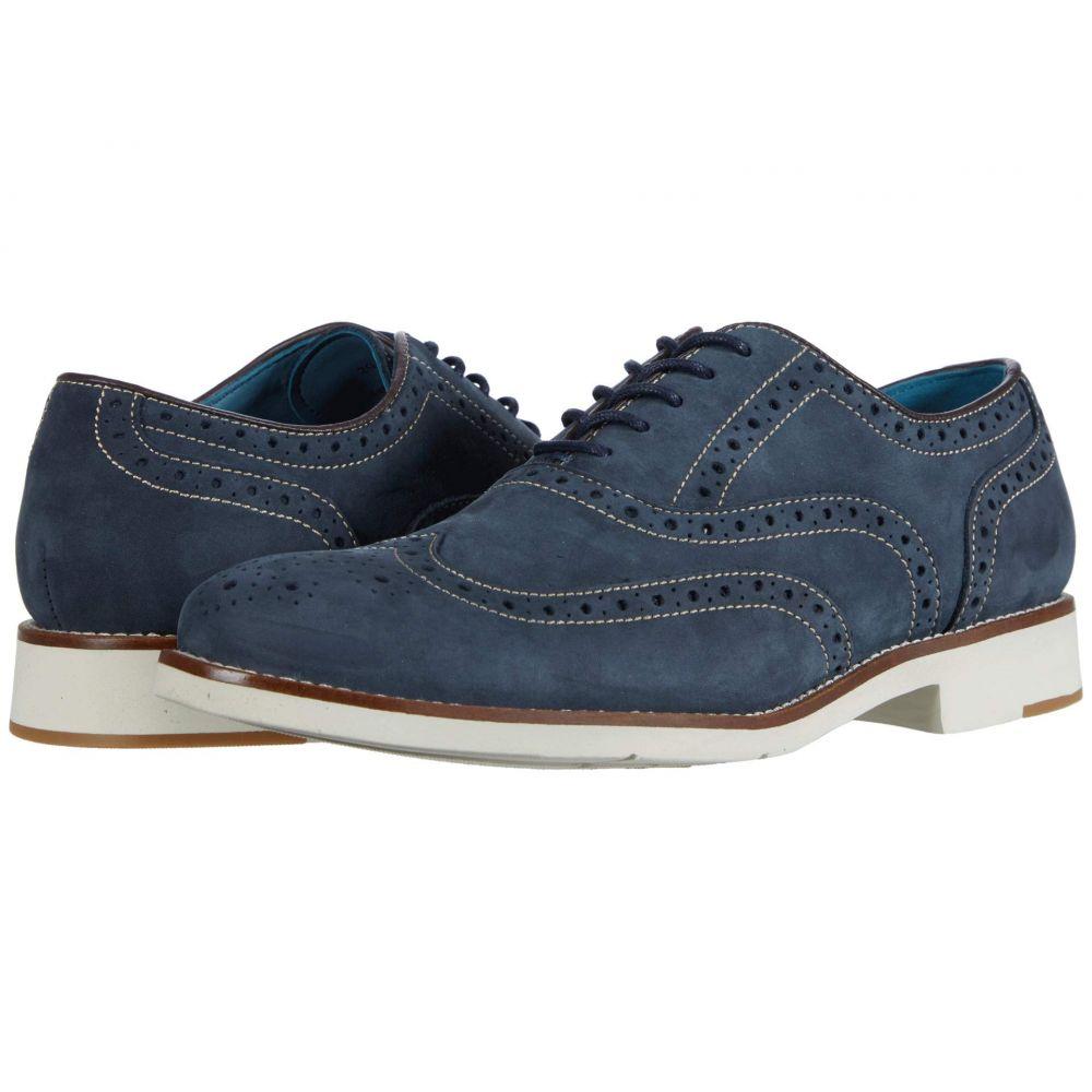 ジョンストン&マーフィー Johnston & Murphy メンズ 革靴・ビジネスシューズ ウイングチップ シューズ・靴【Watkins Wing Tip】Navy Nubuck