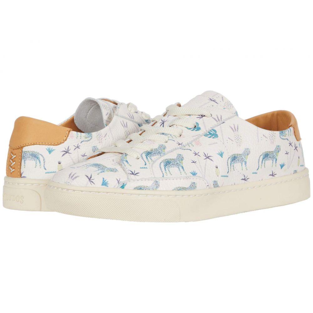 ソルドス Soludos レディース スニーカー シューズ・靴【Blue Leopard Sneaker】White