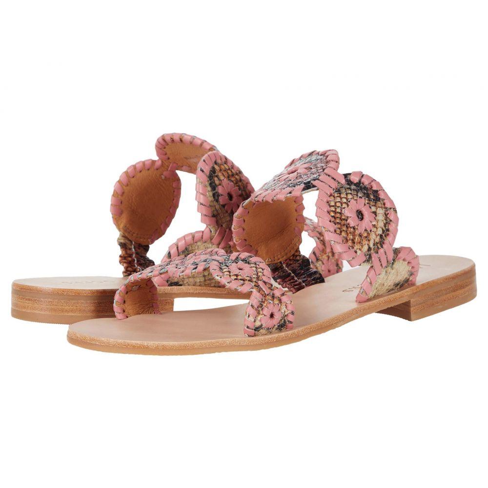 ジャックロジャース Jack Rogers レディース サンダル・ミュール シューズ・靴【Lauren Sandal Snake】Pink