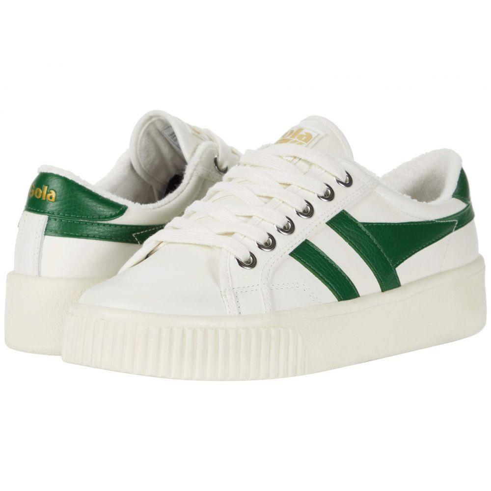 ゴーラ Gola レディース スニーカー シューズ・靴【Baseline Mark Cox Leather】Off-White/Dark Green