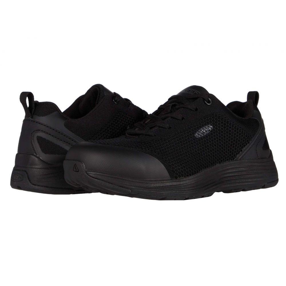 キーン Keen Utility レディース スニーカー シューズ・靴【Sparta Aluminum Toe】Black/Black
