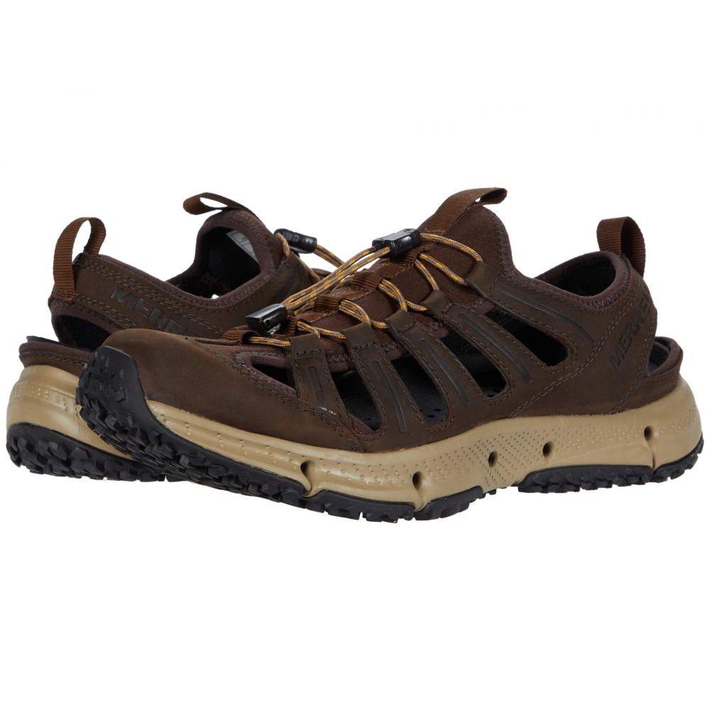 メレル Merrell メンズ スニーカー シューズ・靴【Hydrotrekker Leather Sieve】Seal Brown