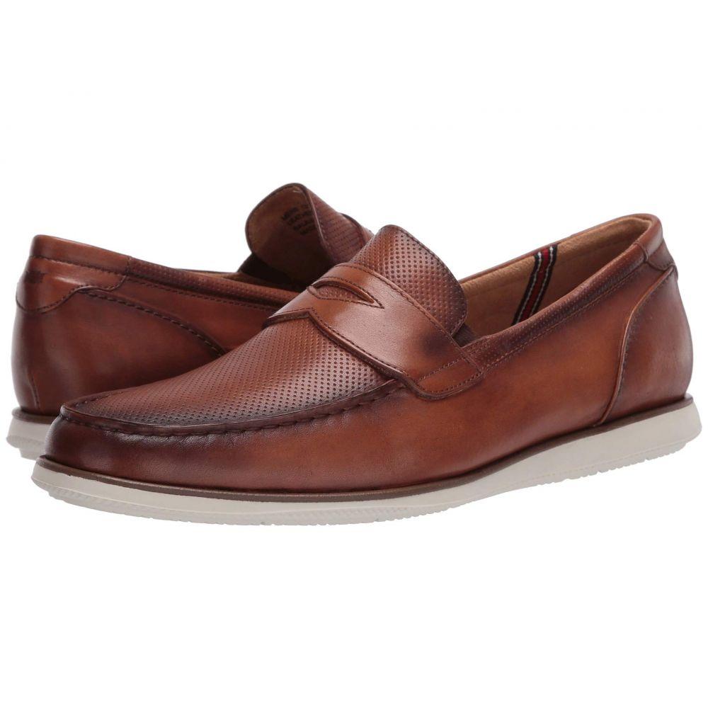 フローシャイム Florsheim メンズ ローファー モックトゥ シューズ・靴【Atlantic Moc Toe Penny Loafer】Cognac Smooth/White Sole