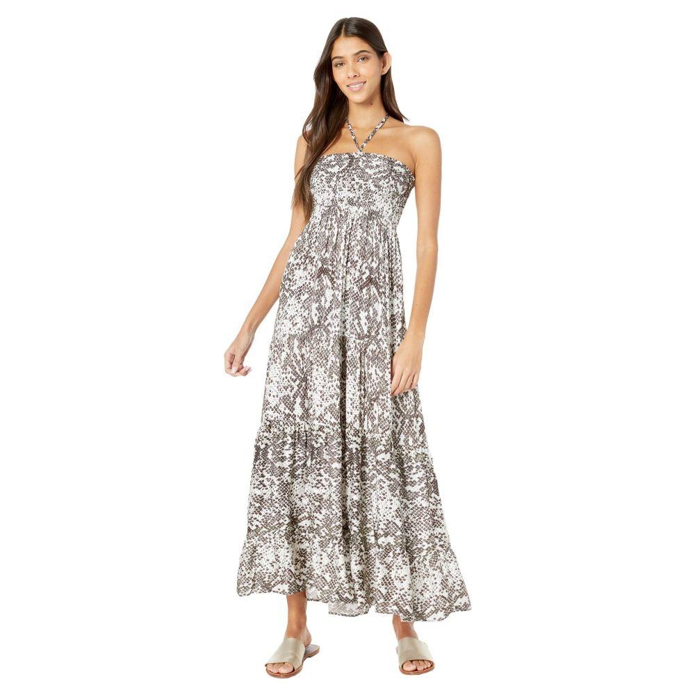 マージ Maaji レディース ビーチウェア ワンピース・ドレス 水着・ビーチウェア【Mother-of-Pearl Convertible Long Dress Cover-Up】Sugar White Python