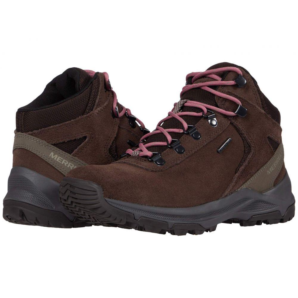 メレル Merrell レディース ハイキング・登山 シューズ・靴【Erie Mid Waterproof】Dark Brown