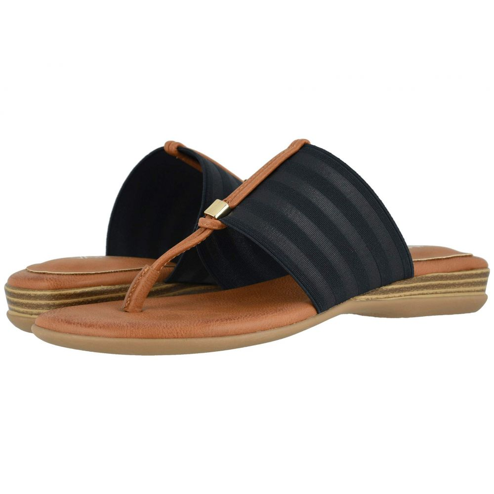 ヴァネリ Vaneli レディース サンダル・ミュール シューズ・靴【Yesen】Navy Ribbon Elastic