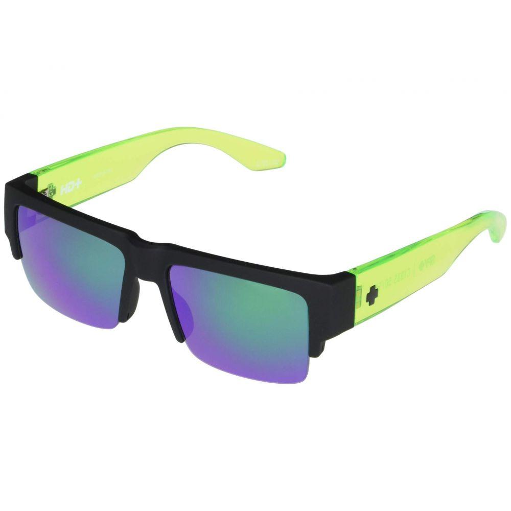 スパイ Spy Optic レディース メガネ・サングラス 【Cyrus 50/50】Soft Matte Black Translucent Green/HD Plus Gray Green with Green