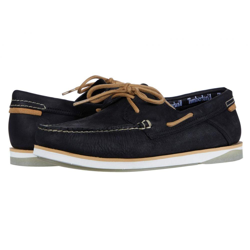 ティンバーランド Timberland メンズ デッキシューズ シューズ・靴【Atlantis Break Boat Shoe】Black Full Grain