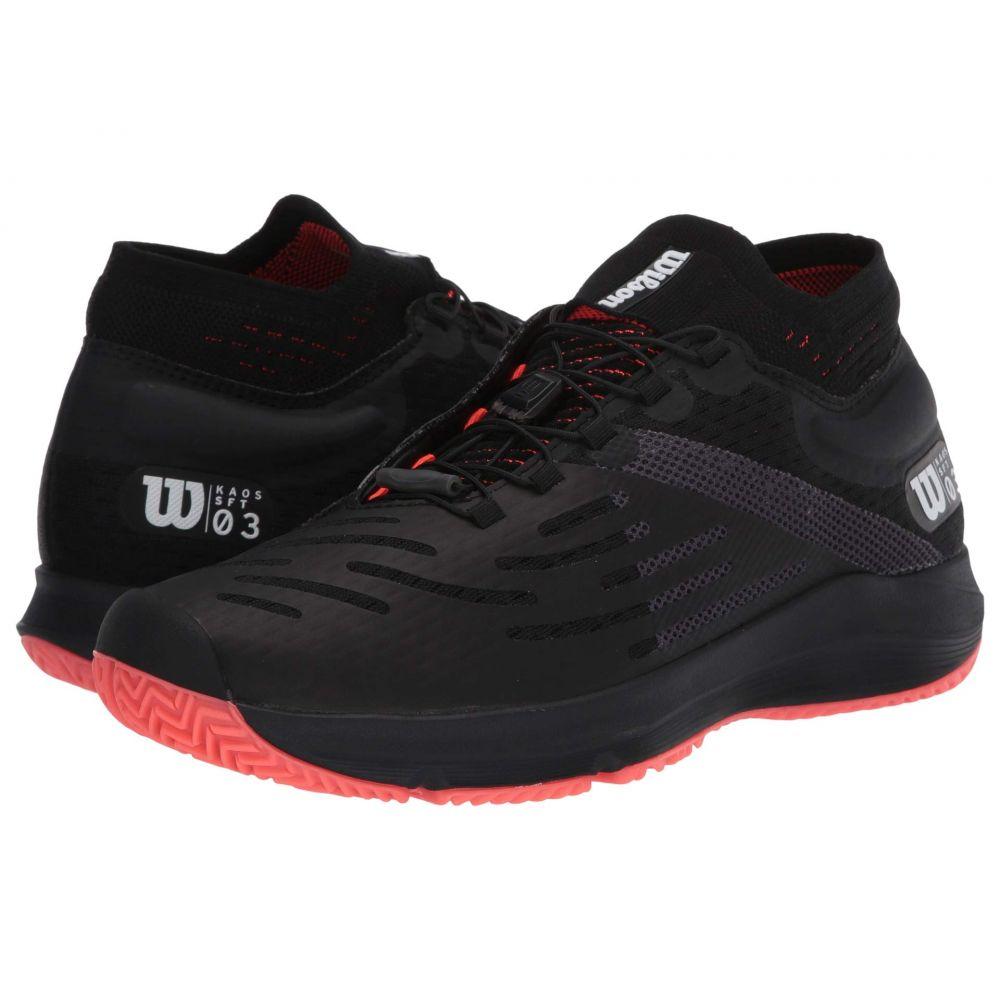 ウィルソン Wilson メンズ テニス シューズ・靴【Kaos 3.0 Sft】Black/White/Fiery Coral