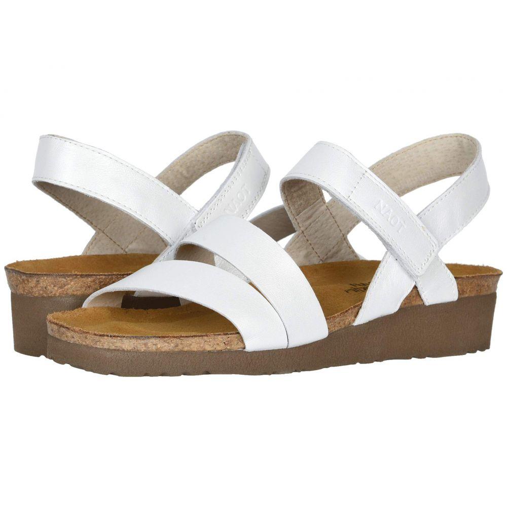 ナオト Naot レディース サンダル・ミュール シューズ・靴【Kayla】White Pearl Leather