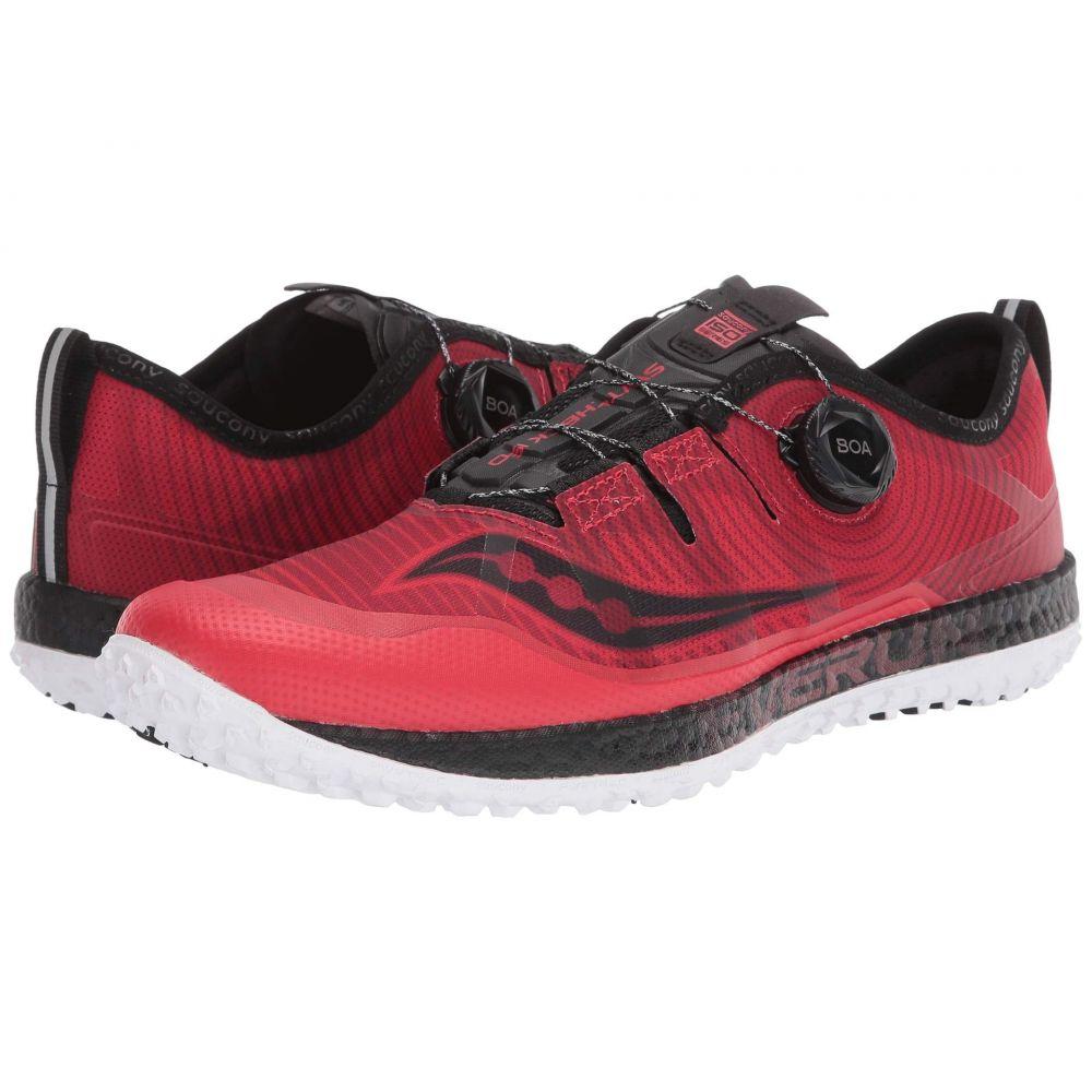 サッカニー Saucony メンズ ランニング・ウォーキング シューズ・靴【Switchback ISO】Red/Black