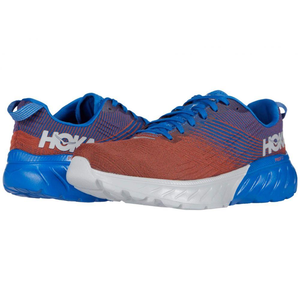 ホカ オネオネ Hoka One One メンズ ランニング・ウォーキング シューズ・靴【Mach 3】Imperial Blue/Mandarin Red