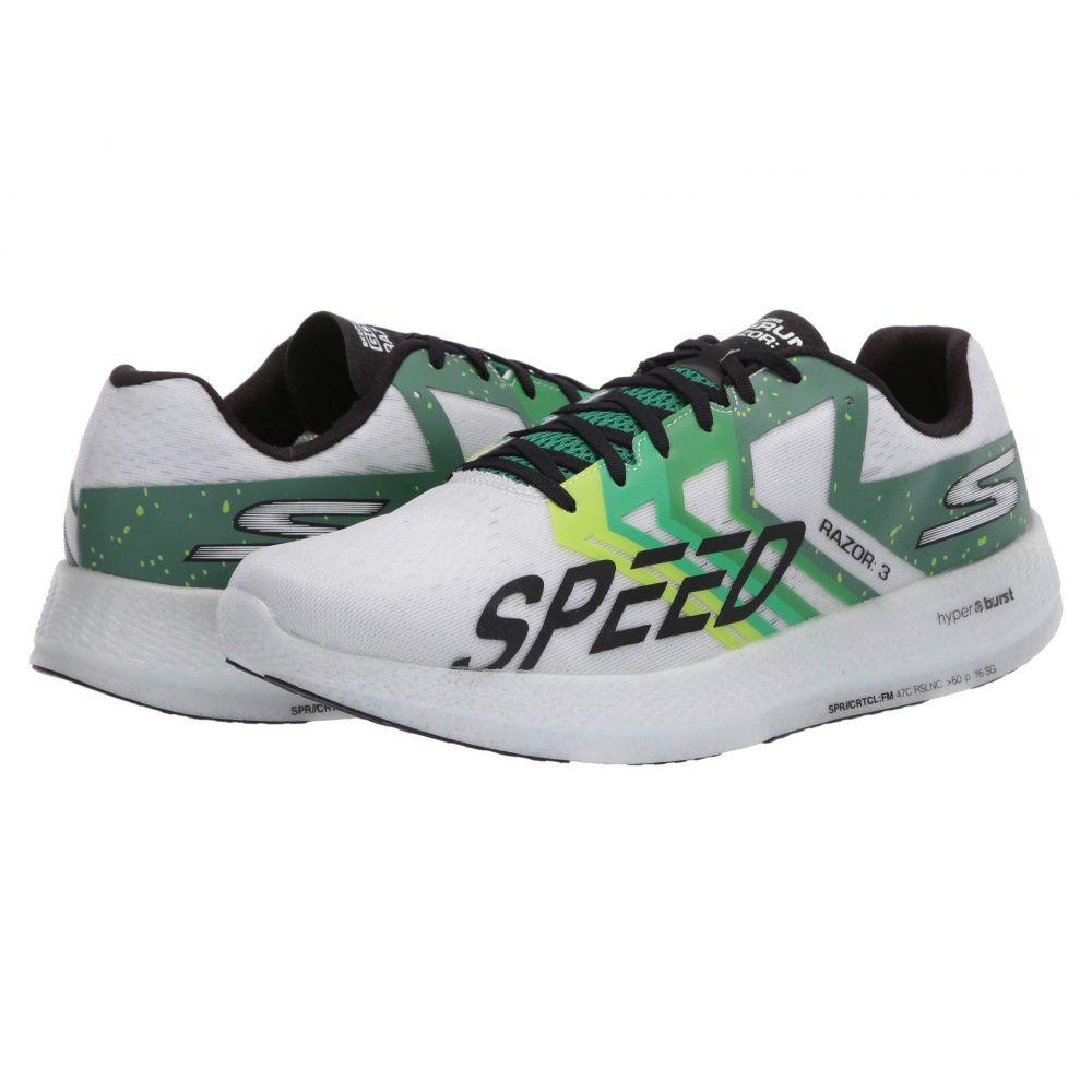 スケッチャーズ SKECHERS レディース ランニング・ウォーキング シューズ・靴【Go Run Razor 3】White/Green