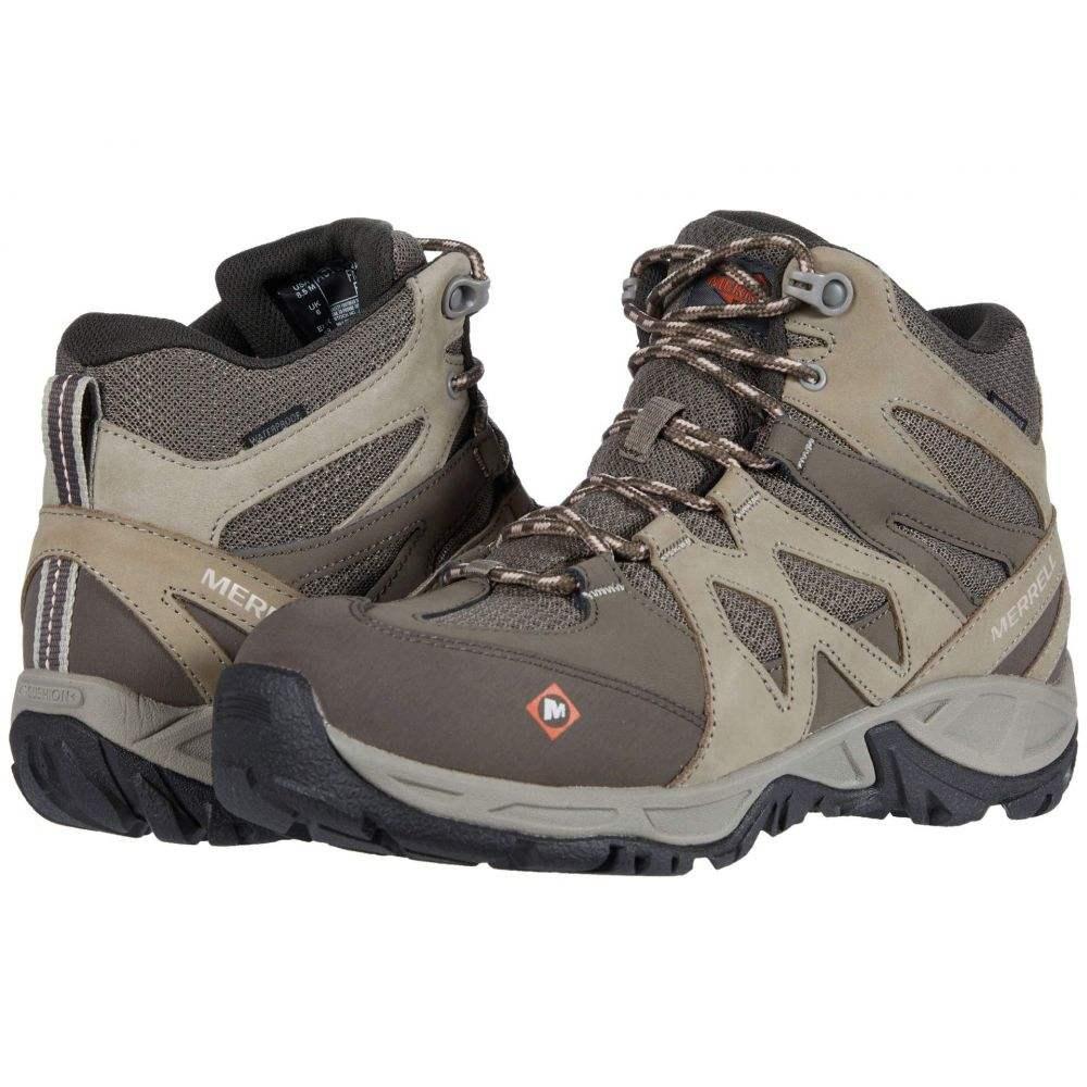 メレル Merrell Work レディース ブーツ シューズ・靴【Siren Mid Waterproof Alloy Toe】Brindle/Boulder