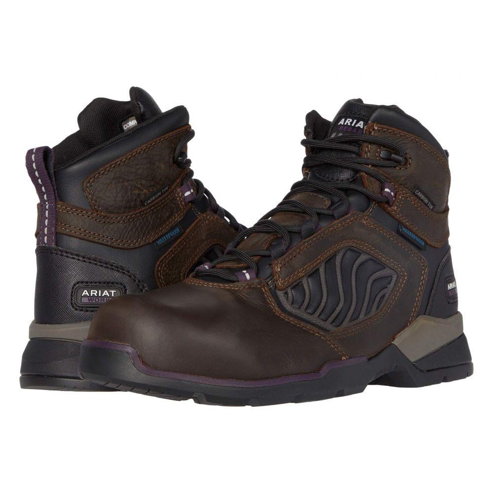 アリアト Ariat レディース ブーツ シューズ・靴【Rebar Flex 6' Waterproof Carbon Toe】Dark Brown